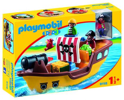 Playmobil 1.2.3 Vaixell pirata