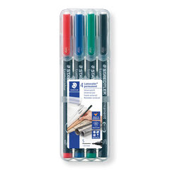 Rotulador permanente Staedtler Lumocolor S 4 colores
