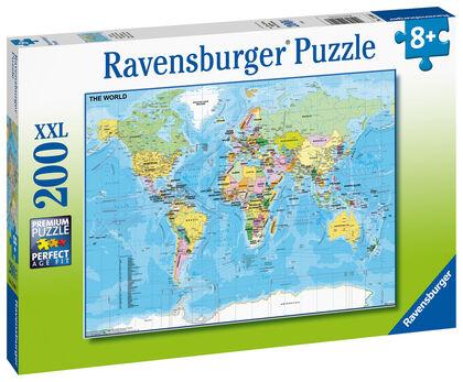 Puzzle Ravensburger Mapa Del Mon (200 piezas)