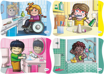 Puzzle Miniland Hábitos de higiene