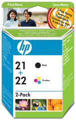 Recambio HP Original Twin Pack 300 21 22