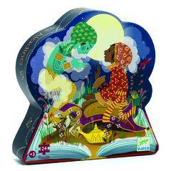 Puzle Silueta Aladdin 24 Peces