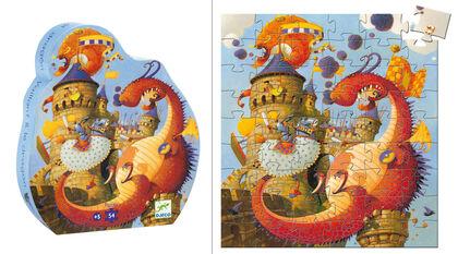 Puzzle Djeco Silueta Valiant y el dragón