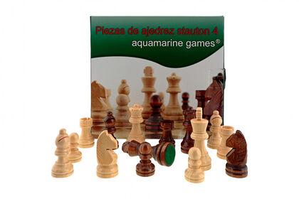 Piezas de ajedrez Aquamarine Stauton 4