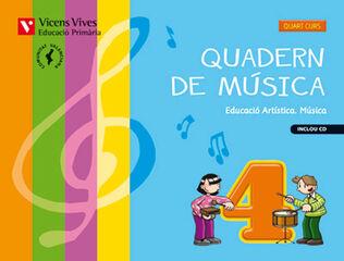 Música-quadern PRIMÀRIA 4 Vicens V. València 9788468218076