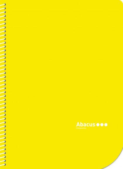 Libreta espiral Abacus A4 Liso 50 hojas Amarillo 5U