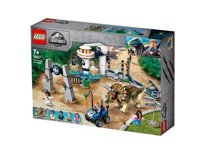 Lego Jurassic World Caos del triceratops