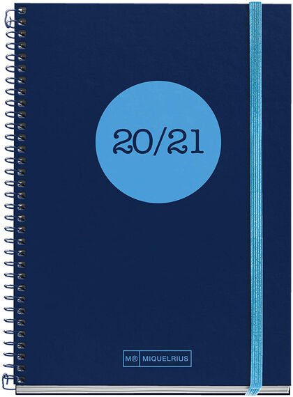 Agenda Escolar Miquelrius Activ 2020 - 2021 Dote  Semana Catalán Azul