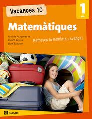VACANCES MATEMÀTIQUES 1r ESO Casals 9788421853177