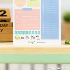 Bloc de tareas para tu dia a dia Mr.Wonderful