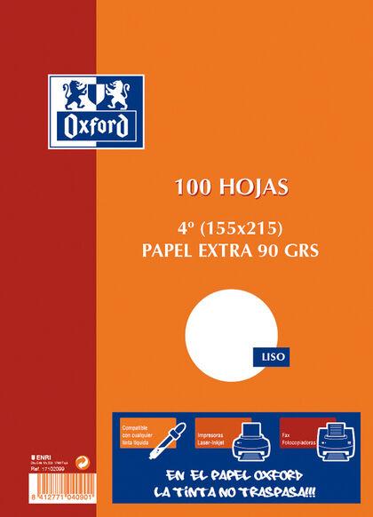 PAPEL SATINADO CUARTO 90gr100H