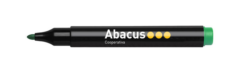 Marcador de pizarra  Blanca Abacus Verde