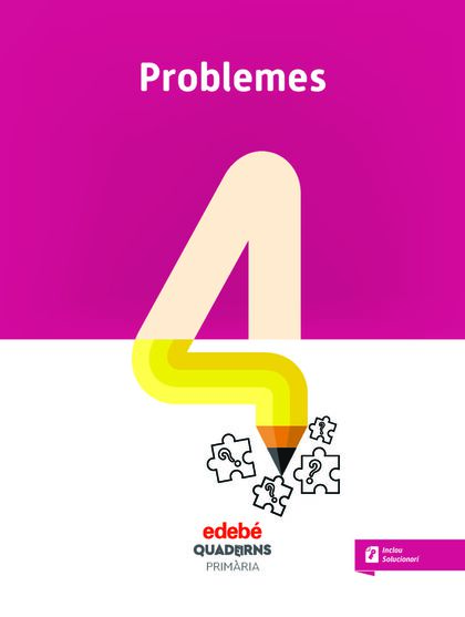 QUAD PROBLEMES 4 (CAT) Edebé 9788468336015