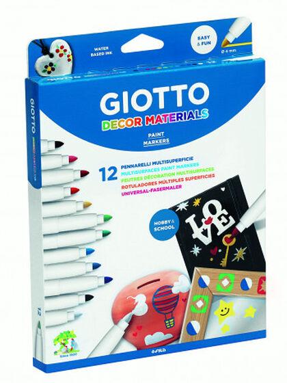 Rotulador Giotto Decor Materiales - 12 colores