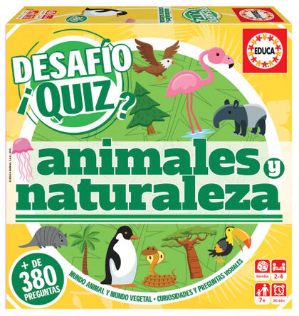 Juego didáctico Educa Desafío Quiz Descubrir animales y naturaleza