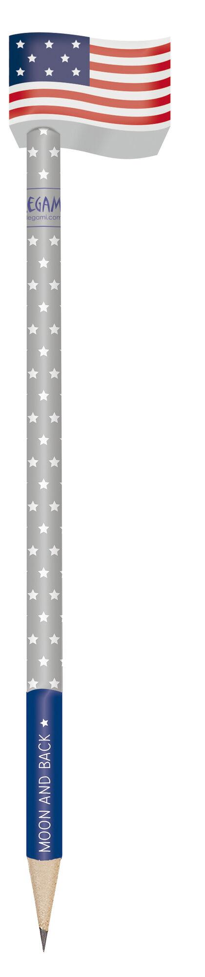 Set To The Moon Legami (1 lápiz + 2 gomas)
