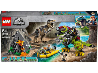 Lego Jurassic World T-rex vs dinosaurio robot