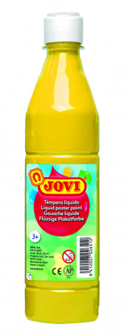 Tempera líquida  Jovi 500 ml Amarillo