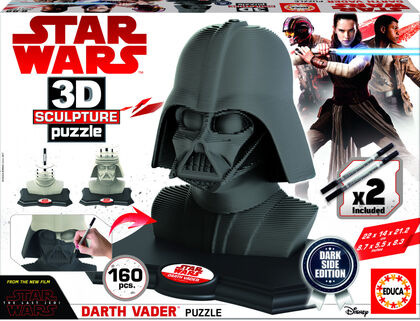 Puzzle Star Wars Sculpture Darth Vader black