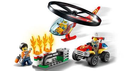LEGO City Fire  Intervención del Helicóptero de Bomberos (60248)