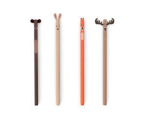 Set de lápices Kikkerland Animales del bosque - 4 unidades