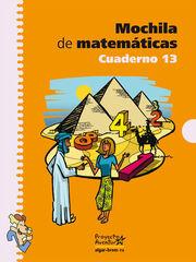 MATEMÁTICAS 13 MOCHILA 5º PRIMARIA Algar 9788498450750
