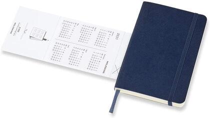 Agenda Moleskine 2020 - 2021 18 meses Pocket Semana Vista Inglés Azul (9x14 cm)