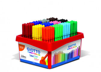 Rotulador Giotto Turbo color 144 unidades