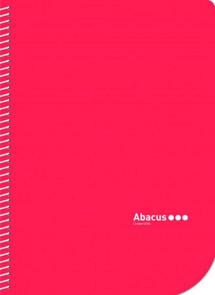 Libreta espiral Abacus A5 Pauta 2,5 con margen 50 hojas Rojo 5U