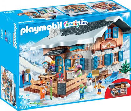 Playmobil Family Fun Invierno cabaña de esquí