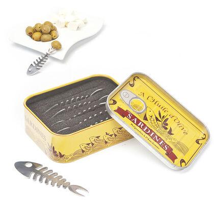 Tenedores de aperitivo Balvi Lata de sardinas 6U