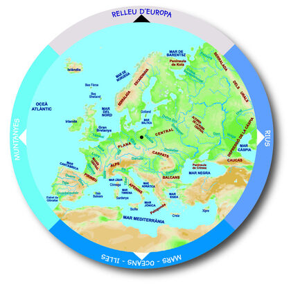 Taula mapcat/relleu d'europa