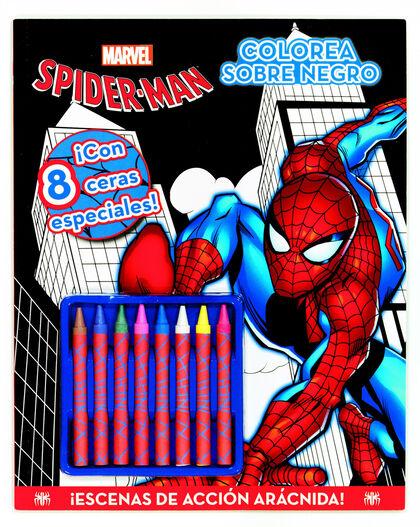 Spiderman. Colorea sobre negro