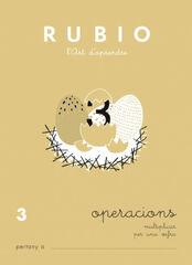 OPERACIONS 3 MULTIPLICAR 1 X PRIMÀRIA Rubio 9788489773042