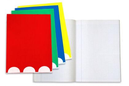 Libreta grapada Abacus A5 Pauta 2,5con margen 32 hojas Surtido de colores
