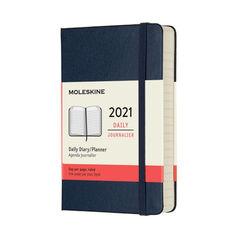 Agenda anual Moleskine Classic Large 2021 Inglés Día Azul