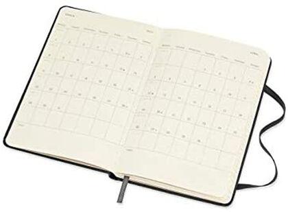 Agenda anual Moleskine Classic Pocket 2021 Inglés Semana Negro