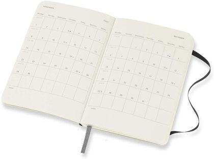 Agenda anual Moleskine Soft Pocket Inglés Semana Negro