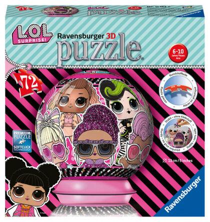 Puzzle 3D Ravensburger LOL Surprise Esferic 72 piezas