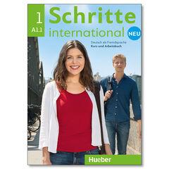 SCHRITTE INTERNATIONAL NEU 1 KURSBUCH+ARBEITSBUCH+CD Hueber Internacional 9783193010827