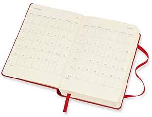 Agenda anual Moleskine Classic Pocket 2021 Inglés Día Rojo