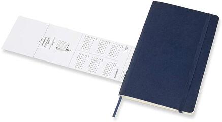 Agenda Moleskine 2020 - 2021 18 meses Cuaderno Semana Vistal L Semana Inglés Azul (13x21 cm)