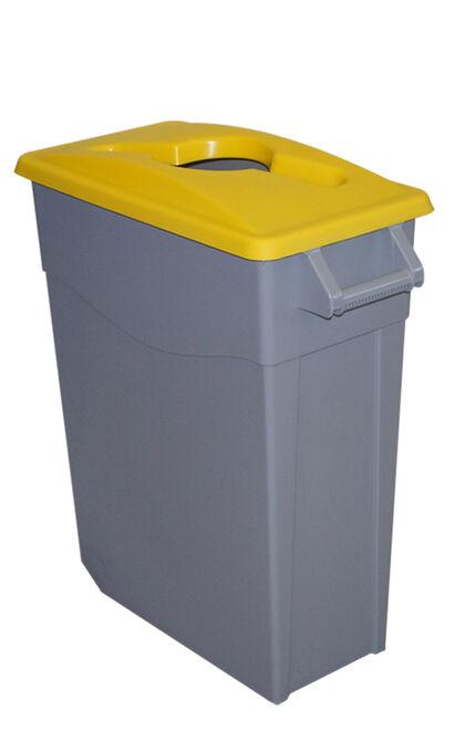 Contenedor Denox Reciclar 65L - Tapa abierta Amarillo
