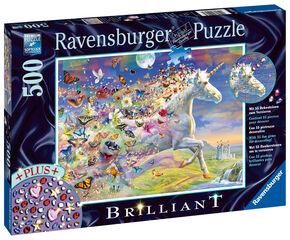 Puzzle Unicornio y Mariposas 500 Piezas