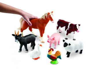 Figuras Learning Resources Jumbo Animales De La Granja Grandes