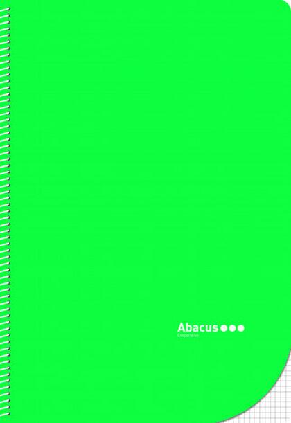 Libreta espiral Abacus Folio 4x4 con margen 50 hojas Verde 5U