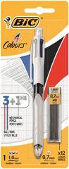 Bolígrafo Bic 3 colores + portaminas HB