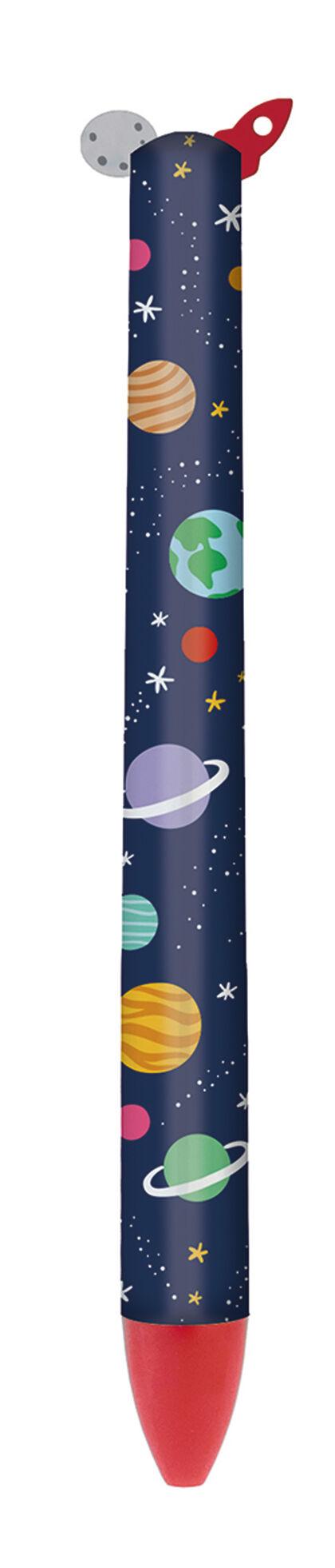 Bolígrafo Legami Click&Clack 2 colores Espacio