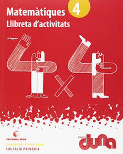 MATEMÀTIQUES LLIBRETA DUNA 4t PRIMÀRIA Teide Text 9788430719358