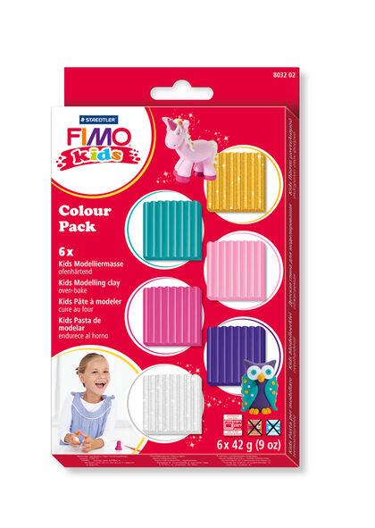 Pasta De ModelarFimoGirlie6 Colores42gr